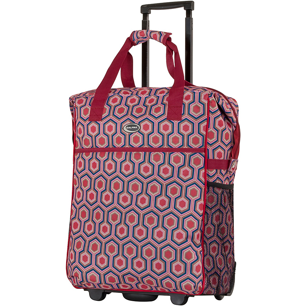 "CalPak The Big Eazy 20"" Rolling Tote Red Hex - CalPak Luggage Totes and Satchels"