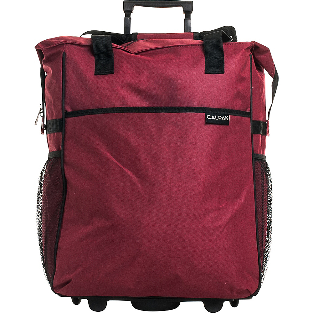 CalPak The Big Eazy 20 Rolling Tote Red CalPak Luggage Totes and Satchels