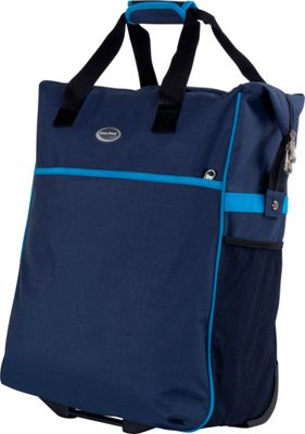 CalPak The Big Eazy 20 inch Rolling Tote Navy Blue - CalPak Luggage Totes and Satchels