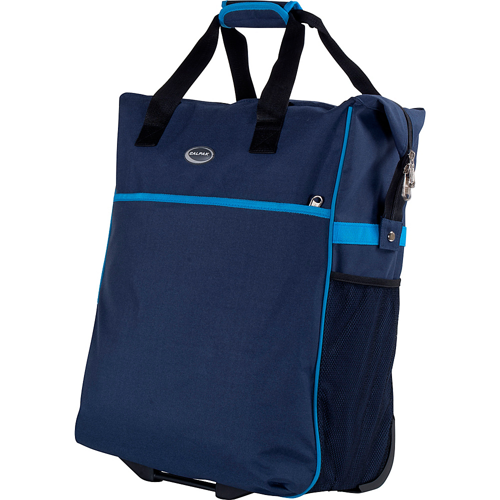 "CalPak The Big Eazy 20"" Rolling Tote Navy Blue - CalPak Luggage Totes and Satchels"