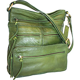Multi Pocket Cross Body Bag Green