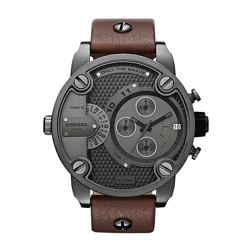 Diesel Watches Little Daddy Brown and Gunmetal - Diesel Watches Watches