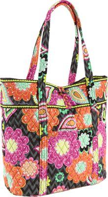 Vera Bradley Vera Tote Ziggy Zinnia - Vera Bradley Fabric Handbags