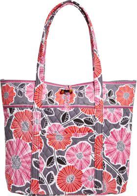 Vera Bradley Vera Tote Cheery Blossoms - Vera Bradley Fabric Handbags