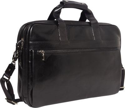 Bosca Old Leather Stringer Bag Black - Bosca Non-Wheeled Business Cases