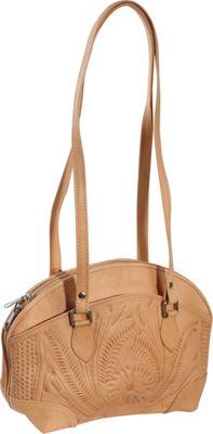 Ropin West Half Moon Handbag Natural - Ropin West Leather Handbags