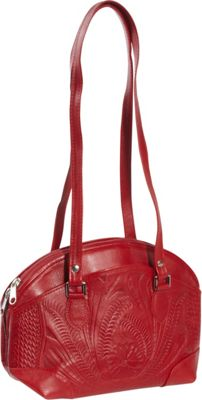 Ropin West Half Moon Handbag Red - Ropin West Leather Handbags