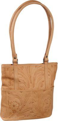 Ropin West Tote Bag Natural - Ropin West Leather Handbags