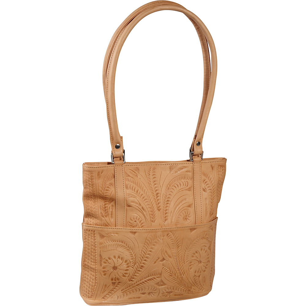 Ropin West Tote Bag Natural Ropin West Leather Handbags