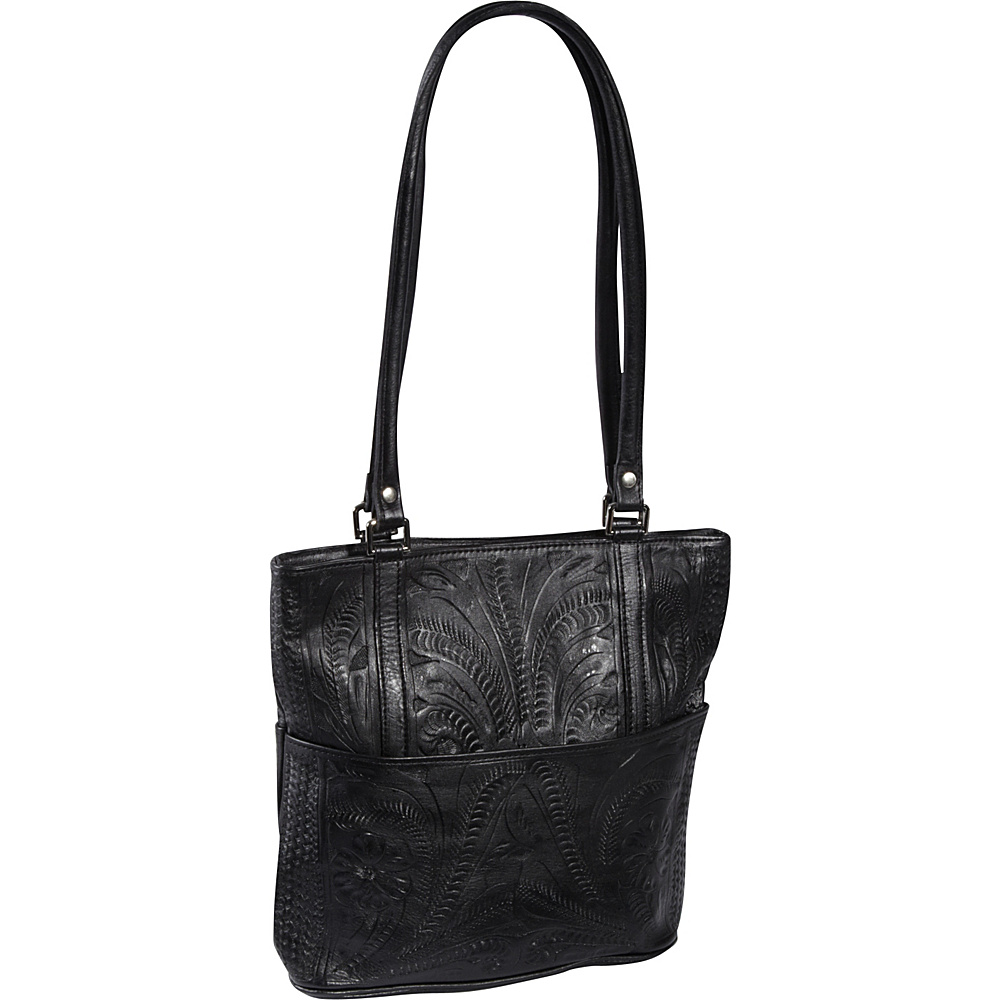 Ropin West Tote Bag Black Ropin West Leather Handbags