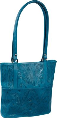 Ropin West Tote Bag Turquoise - Ropin West Leather Handbags
