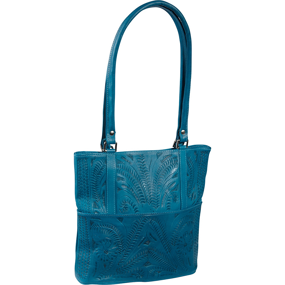 Ropin West Tote Bag Turquoise Ropin West Leather Handbags