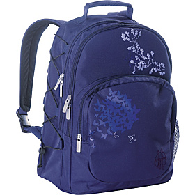 Casual Diaper Backpack Butterfly Purple