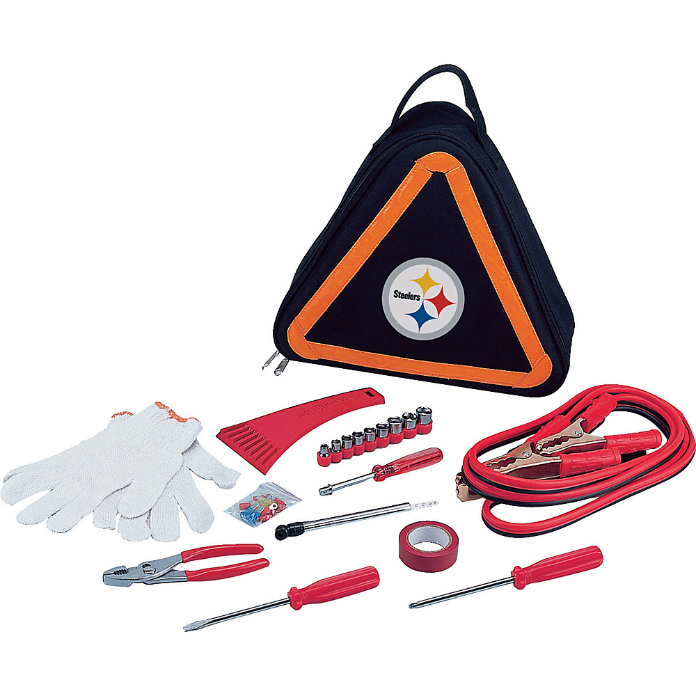 Picnic Time Pittsburgh Steelers Roadside Emergency Kit Pittsburgh Steelers - Picnic Time Trunk and Transport Organization - Travel Accessories, Trunk and Transport Organization