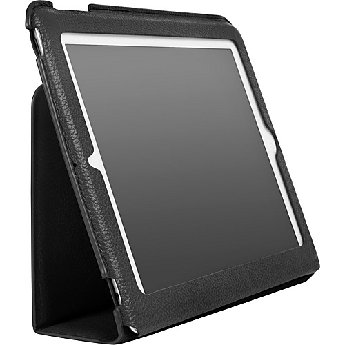 Luardi Tuessuto Leather Case/w Smart Cover for iPad Black - Luardi Laptop Sleeves