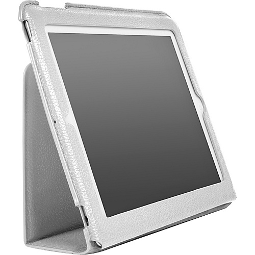 Luardi Tuessuto Leather Case/w Smart Cover for iPad White - Luardi Laptop Sleeves