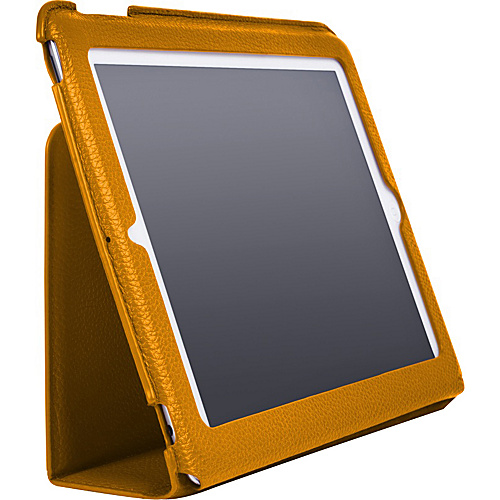 Luardi Tuessuto Leather Case/w Smart Cover for iPad Orange - Luardi Laptop Sleeves