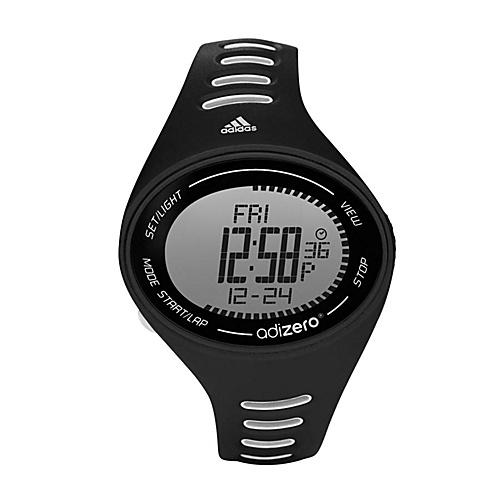 adidas originals Watches Adidas Performance Adizero Black with White Striped Band - adidas... (10218821 ADP3502-Black) photo