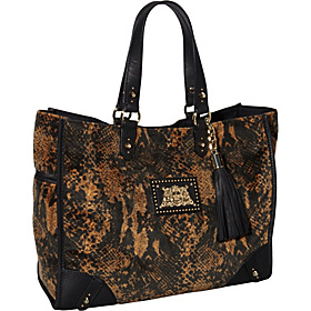 Wild Things Snake Velour Nicola Tote Amaretti