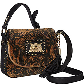 Wild Things Snake Velour Mini Ciara Crossbody Amaretti