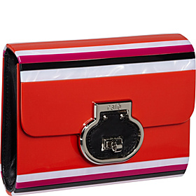 Melissa Lucite Clutch/Crossbody Red Multi