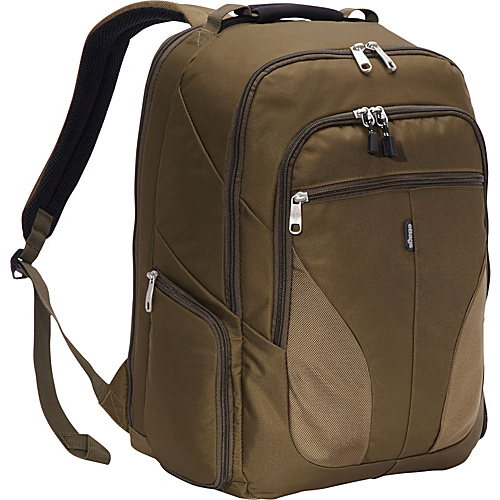 eBags eTech 2.0 Macroloader Laptop Backpack Olive - eBags Laptop Backpacks