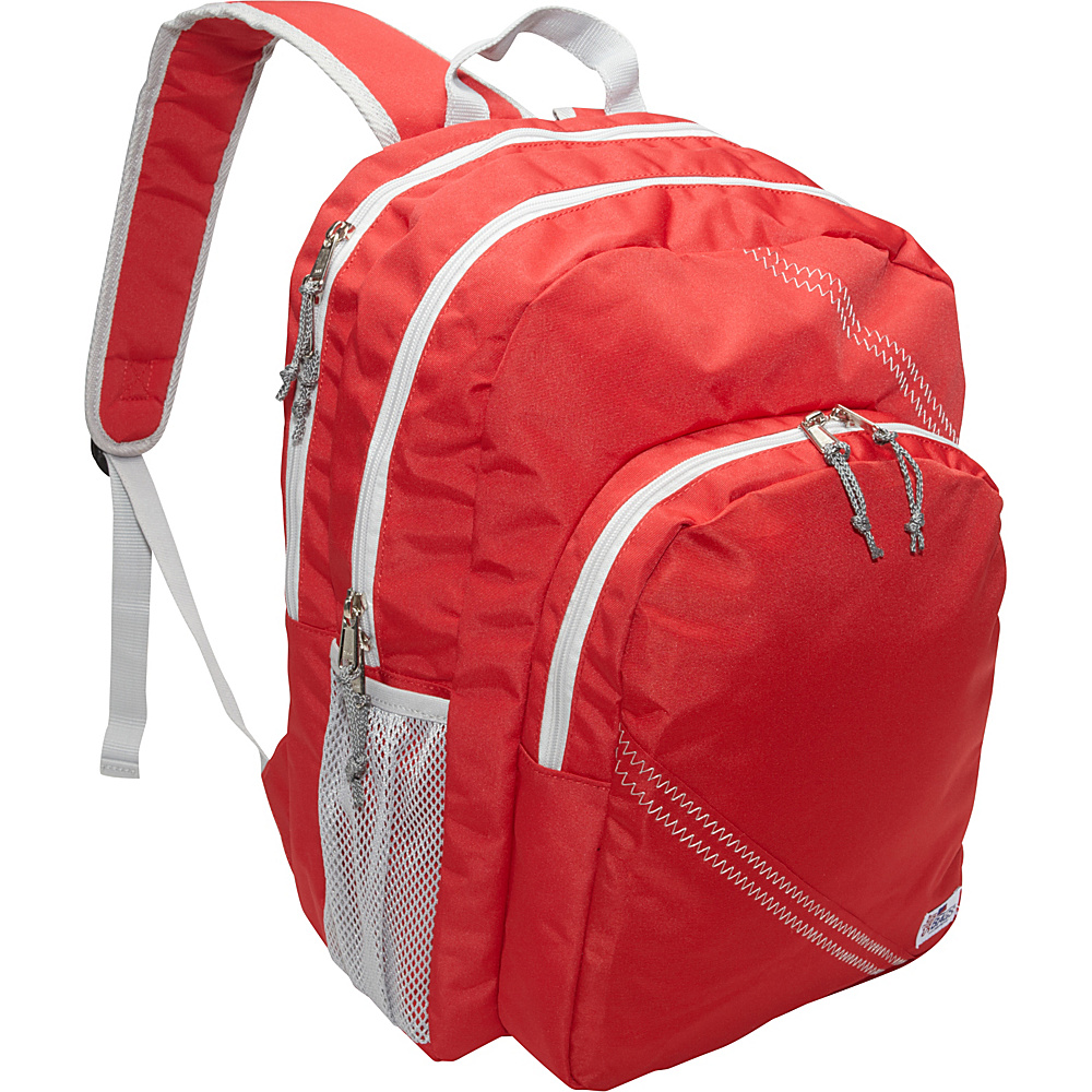 SailorBags Sailcloth Backpack Red SailorBags Business Laptop Backpacks