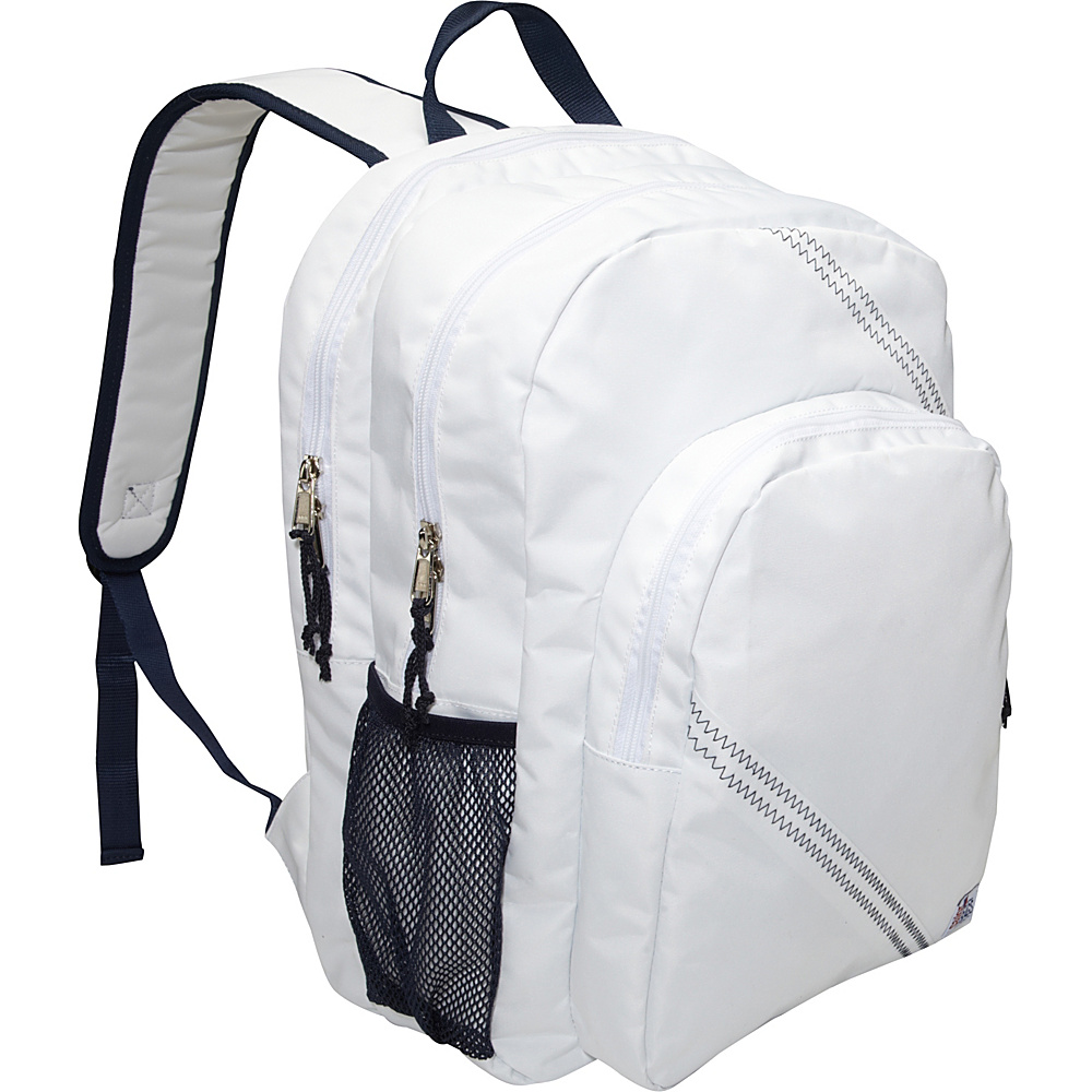 SailorBags Sailcloth Backpack White SailorBags Business Laptop Backpacks