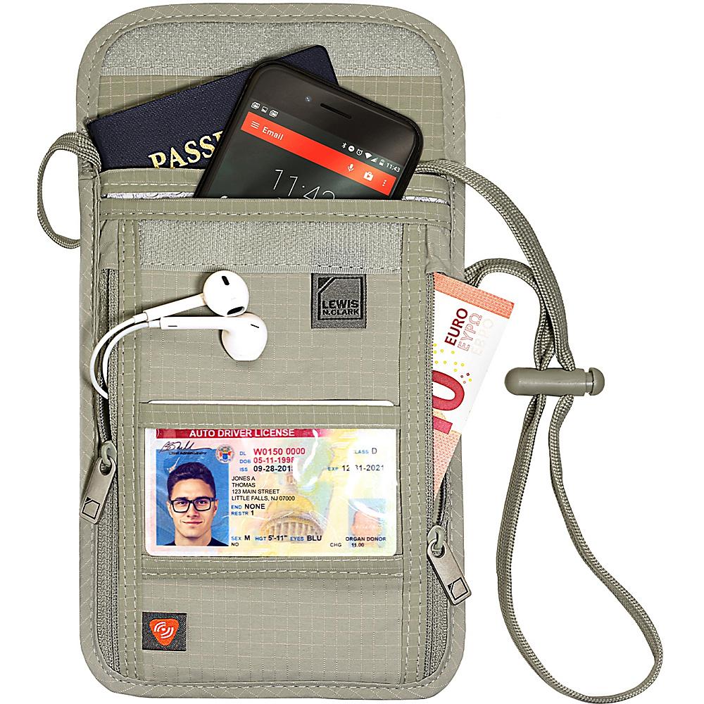Lewis N. Clark RFID Neck Stash Tan - Lewis N. Clark Travel Wallets