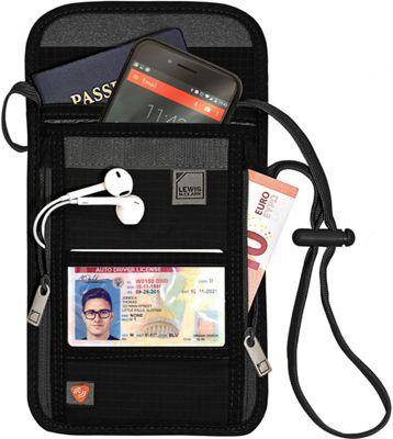 Lewis N. Clark RFID Neck Stash Black - Lewis N. Clark Travel Wallets