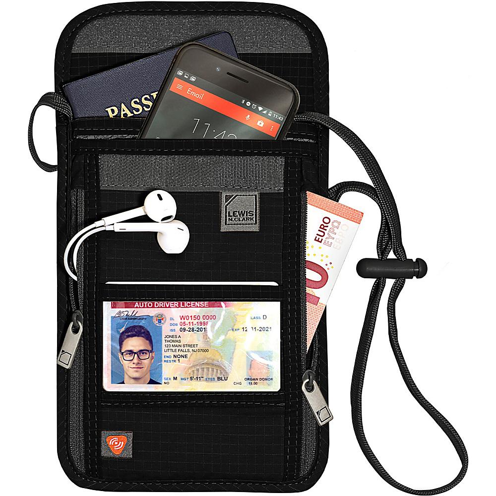 Lewis N. Clark RFID Neck Stash Black Lewis N. Clark Travel Wallets