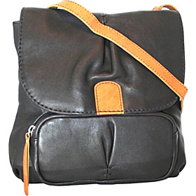 Cross Body Bag that Converts to a Backpack Black