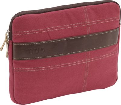 Nuo Canvas Sleeve for iPad & Tablets Red/Tan - Nuo Electronic Cases