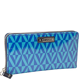 Geo Print Zip Around Wallet Multi