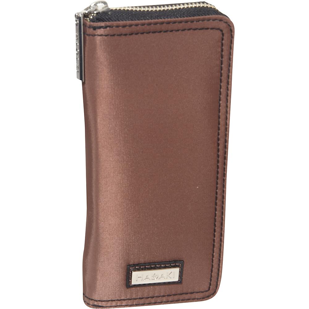 Hadaki Nylon Money Pod Large Chocolate/Black - Hadaki Womens Wallets - Women's SLG, Women's Wallets