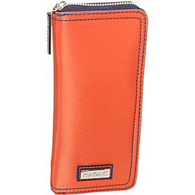 Nylon Money Pod Large Orange/Navy