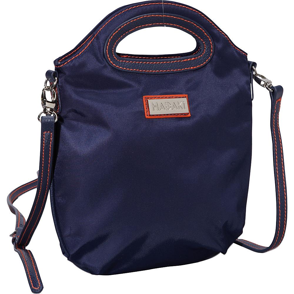 Hadaki Nylon Sling/Clutch Pod Navy/Orange - Hadaki Fabric Handbags - Handbags, Fabric Handbags