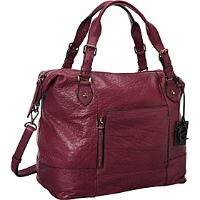 Unzipped Satchel Chianti