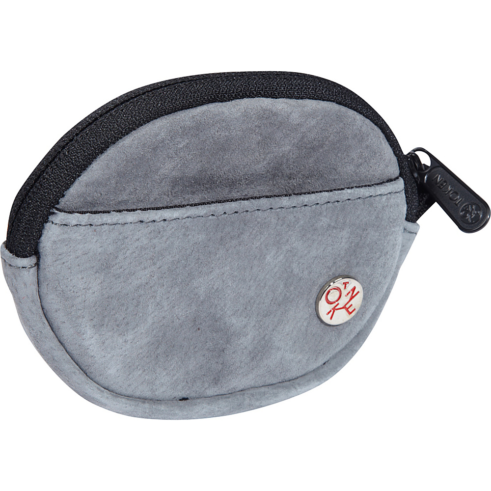 TOKEN Suede Token Coin Purse Grey - TOKEN Women's Wallets