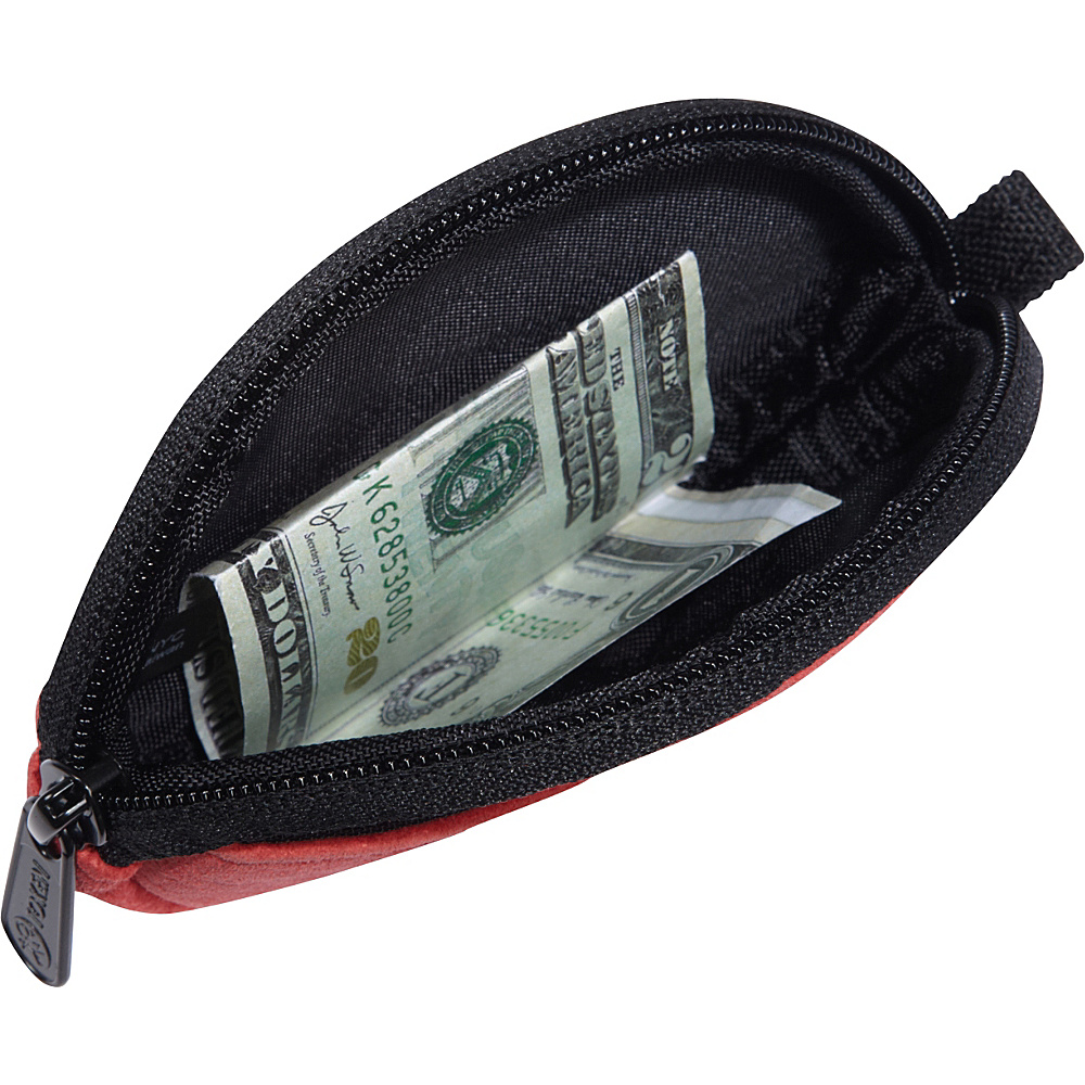 TOKEN Suede Token Coin Purse Red - TOKEN Women's Wallets