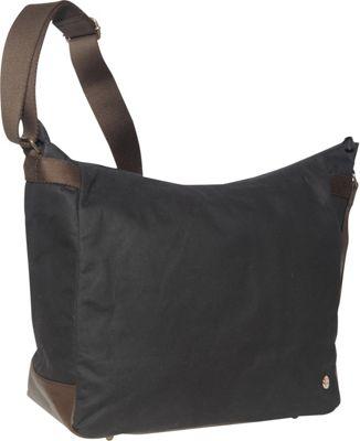 TOKEN Riverside Waxed Shoulder Bag Black - TOKEN Fabric Handbags