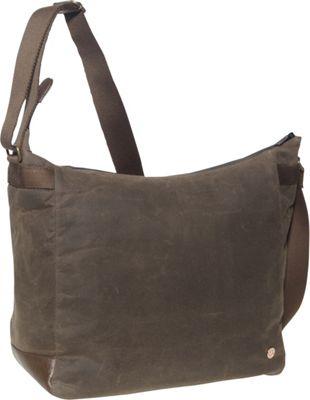 TOKEN Riverside Waxed Shoulder Bag Dark Brown - TOKEN Fabric Handbags