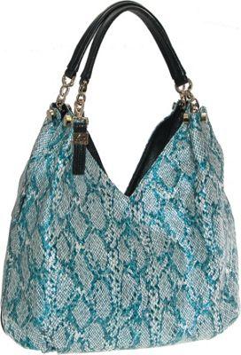 Buxton Margaret Hobo Green - Buxton Leather Handbags