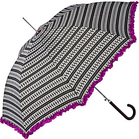 Fashion Auto Open Stick Umbrella Wipwip/Raspberry Ruffle