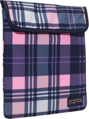 JanSport 1.0 iPad Sleeve Pink Pansy Preston Plaid - JanSport Laptop Sleeves
