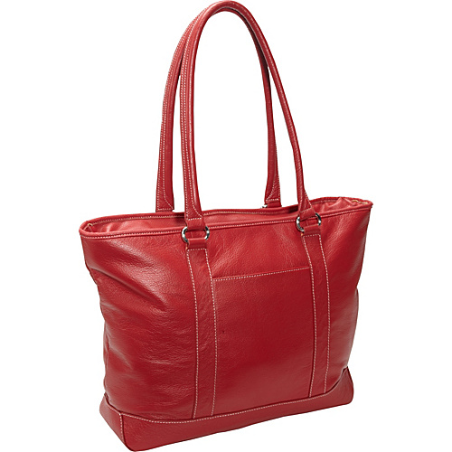 eBags Laptop Collection Soho Classic Leather Laptop Tote Red - eBags Laptop Collection Ladies' Business