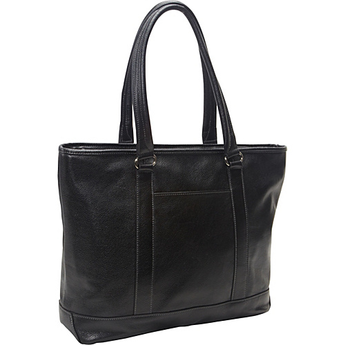 eBags Laptop Collection Soho Classic Leather Laptop Tote Black - eBags Laptop Collection Ladies' Business