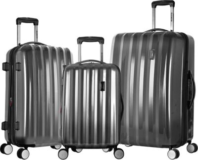 Olympia USA Titan Hardside 3-Piece Spinner Luggage Set Black - Olympia USA Luggage Sets