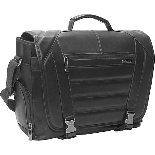 OGIO Business and Luggage Captain Colombian Leather Laptop Messenger Black - OGIO Business and Luggage Laptop Messenger Bags