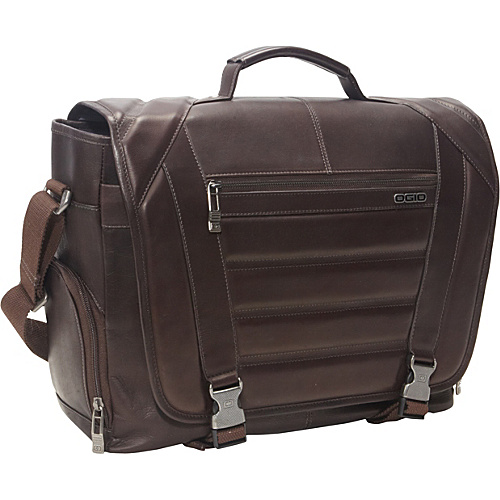 OGIO Business and Luggage Captain Colombian Leather Laptop Messenger Brown - OGIO Business and Luggage Laptop Messenger Bags